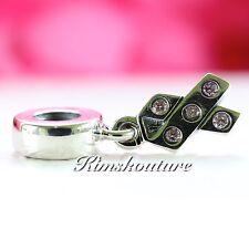Authentic Pandora Ribbon, Pink CZ Dangle Charm 790314PCZ