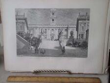 Vintage Print,SENATORIAL PALACE,Rome,Francis Wey,1872