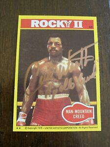 """Carl Weathers """"Apollo Creed"""" 1979 Rocky Movie Signed AUTOGRAPHED Trading Card"""