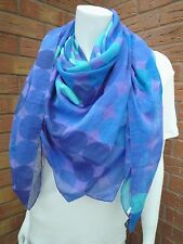 PAUL SMITH PURPLE SPOT SILK BLEND SCARF WRAP SARONG MADE IN ITALY BNWT