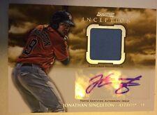 Jonathan Singleton •2013 Bowman Inception Autograph/Jersey Relic• Astros RC Auto