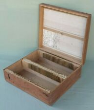 Vintage Camera ¼ Photographic Glass Plate Slide Wooden Storage Box