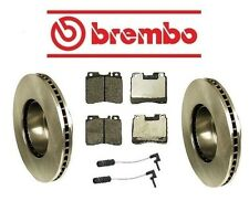For Mercedes W140 S320 94-99 Front Rotors Pads Sensors KIT Brembo/Pagid/Bowa