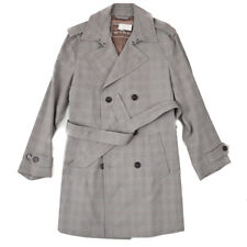 NWT $1695 ETRO Mid-Weight Belted Cotton Coat with Leather Details M (Eu 50)