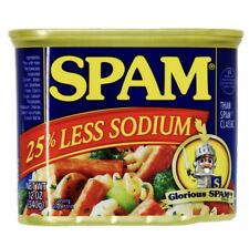 Spam S388042 25 Less Sodium 12 oz Can, 4 Pack