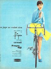 PUBLICITE ADVERTISING 124  1957  LESUR   jupe en laine  FLIP
