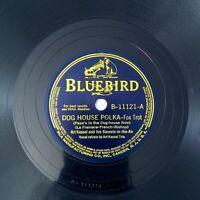 "Dog House Polka / Lullaby Land Art Kassel Trio Bluebird 11121 V+ 78 10"" Shellac"