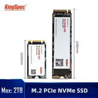 KingSpec M.2 SSD Hard Drive NVMe Protocal 2242 2280 Size 128GB 256GB 512GB 1TB