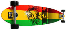 New Krown Complete City Surf Skateboard Longboard Rasta
