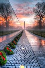 Vietnam War Memorial Wall During Holidays Beautiful Borderless 8.5x11 Photo