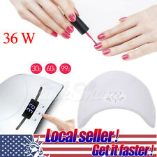 36W Professional LED UV Nail Polish Dryer Lamp Gel Acrylic Curing Light USA
