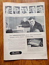 1956 Edison Voicewriter Ad  In the Court Room Lawyer Judge theme