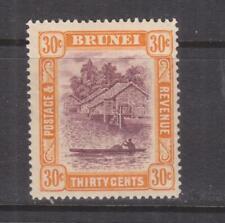 BRUNEI, 1931 Script CA, 30c. Purple & Orange Yellow, lhm.