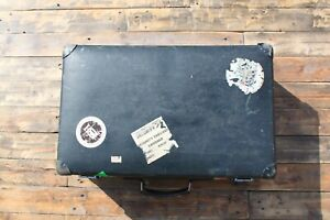 Vintage Globetrotter Suitcase Blue Well Travelled 66x41x22cm Made In England