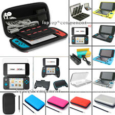 For Nintendo 2DS XL Travel EVA Carrying Bag Case Tempered Glass Film Accessories