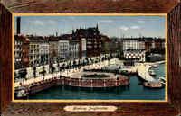HAMBURG 1926 AK Rahmenmotiv-Karte Jungfernstieg Alster alte Ansichtskarte gel.