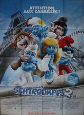 LES SCHTROUMPFS 2 Affiche Cinéma Pliée 160x120 Movie Poster The Smurfs