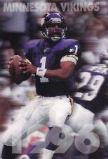 1996 MINNESOTA VIKINGS FOOTBALL POCKET SCHEDULE - FOX 29 WFTC