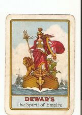 Antique Advertising Dewar's Spirit of the Empire Single Wide Playing Card