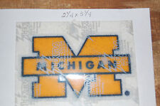 "Michigan Wolverines Lextra 3 3/4"" Logo Patch College"