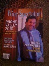 WINE SPECTATOR NOVEMBER 30,  2012 MICHEL CHAPOUTIER , RHONE POWERHOUSE