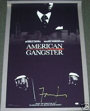 Frank Lucas Signed American Gangster 27x41 Movie Poster PSA/DNA COA Autograph