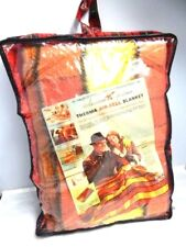 Nos Vintage 1960s American Sportsman Therma Air-Cell Blanket Plaid Travel Case
