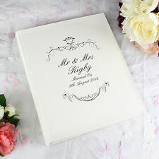 Personalised Wedding Mr and Mrs With Sleeves Ornate Swirl Photo Album