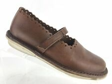 Trippen Germany Brown Leather Mary Jane MJ Comfort Walking Shoes Sz 37 US 6.5