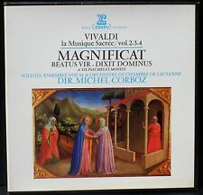 Vivaldi Magnificat, Beatus vir, Dixit Dominus, Psaumes... Corboz 3 x LP M, BX NM