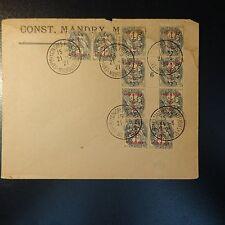 N°157 x10 LETTRE RECOMMANDE COVER CAD EXPOSITION CONGRES PHILATÉLIQUE MULHOUSE