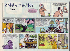 Calvin and Hobbes by Bill Watterson - color Sunday comic page - August 21, 1994