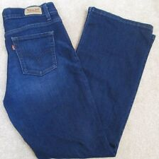 LEVIS 512 Size 8 Perfectly Slimming Dark Wash Boot Cut Womens Jeans #685A
