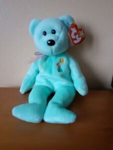 Ty Beanie Babies Ariel Light Blue Bear w/ Tags 2000