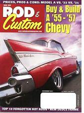 Rod & Custom November 2001--36 Standard,55,56,57 Chevy,  31,32,33,40 Ford Deluxe