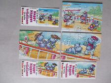 3 Ü-Ei Puzzle-Ecken, * Hippos Traumschiff + Bpz * 1992.