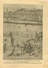 Woodrow Wilson St. Peter's Square Piazza San Pietro Roma Rome 1919 ILLUSTRATION