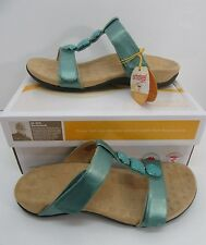 Orthaheel Albany T Strap Slide Sandals Mint Size US 5