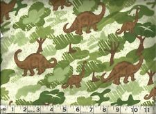 ~ AE Nathan Comfy Flannel ~ Dinosaurs ~ 100% Cotton Flannel Fabric Remnant