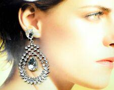 Crystal Folded Effect Earrings CE017