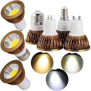 Dimmable GU10 MR16 6W 9W 12W LED COB Spotlight Bulbs GU5.3 E27 E14 Light Lamps