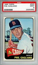 1965 Topps #503 Phil Gagliano PSA 9 MINT St. Louis Cardinals