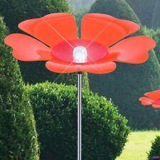 LED Changement Extérieur Fiche Lampe Jardin Solaire Veranda Fleur Orange Rose