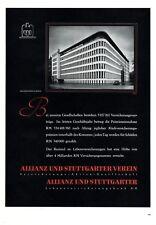 Allianz & Stuttgarter Verein Club Insurance 1938 German ad Germany advertising