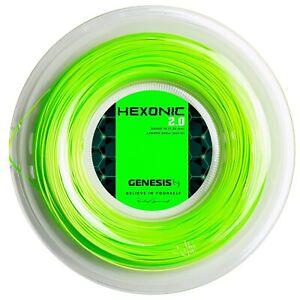 New GENESIS HEXONIC 2.0 16G 1.28 Green Reel Tennis Racquet String