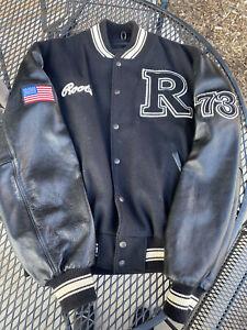 Vintage Roots USA 73 Leather Varsity Jacket Black Drake OVO