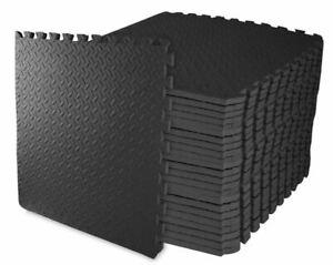 Exersci Premium Extra Thick Interlocking EVA Soft Gym Mats (Leaf-Pattern)