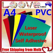 50x A4 Color PVC Glossy Waterproof Self Adhesive Sticker Label Laser Print Paper