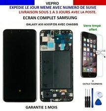 Ecran LCD Complet pour samsung Galaxy A50 SM-A505F SUR CHASSIS +KIT+VERRE OFFERT