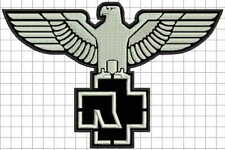 """8""""  20cm RAMMSTEIN eagle embroidered patch"""